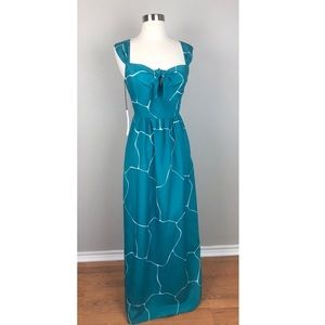 NWT Susana Monaco Printed Bow Maxi Dress